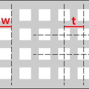 Qg - čtvercové řadové